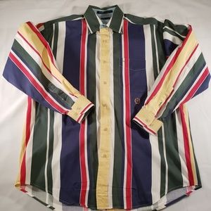 Tommy Hilfiger Men's M Button Down Shirt Multi